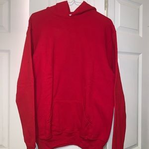 youth XL red plain hoodie